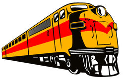 Tren que apresura labrado retro Fotografía de archivo