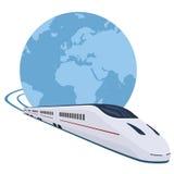 Tren que corre en todo el mundo libre illustration