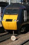 Tren que espera Foto de archivo libre de regalías