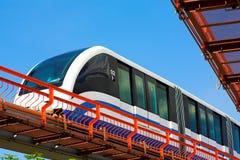 Tren rápido del monocarril en ferrocarril Fotografía de archivo libre de regalías