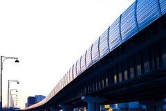 Tren rápido del monocarril en ferrocarril Foto de archivo