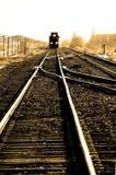 Tren rápido en pistas Imagenes de archivo