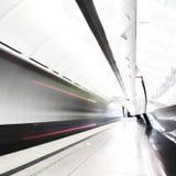 Tren rápido en subterráneo Imagen de archivo libre de regalías