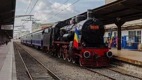Tren real rumano Fotografía de archivo libre de regalías