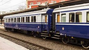 Tren real rumano - carros Fotos de archivo libres de regalías