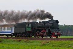 Tren retro del vapor Foto de archivo libre de regalías