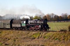 Tren retro del vapor Fotografía de archivo