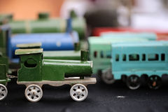 Tren retro escalado del vapor Imagenes de archivo