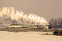 Tren retro viejo del vapor Fotos de archivo