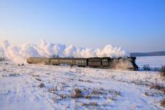 Tren retro viejo del vapor fotos de archivo libres de regalías