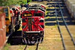 Tren rojo Fotos de archivo