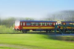 Tren rojo rápido Imagen de archivo