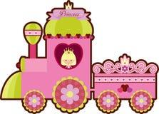 Tren rosado de la princesa ilustración del vector