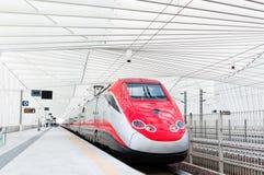 Tren rápido en Italia Foto de archivo libre de regalías