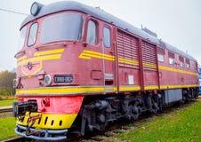 Tren soviético viejo Fotografía de archivo libre de regalías