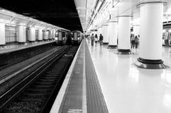 Tren subterráneo Imagen de archivo libre de regalías
