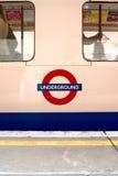 Tren subterráneo de Londres Foto de archivo libre de regalías