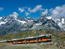 Tren Suiza de Gornergrat imágenes de archivo libres de regalías