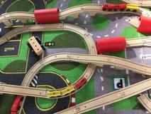 Tren Toy Transportation Imagenes de archivo