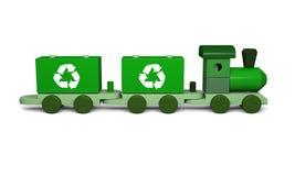 Tren verde del juguete Imagen de archivo libre de regalías