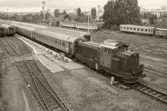 Tren viejo Fotografía de archivo