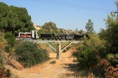 Tren viejo de la mina en el pueblo de Kalavasos, Chipre fotos de archivo