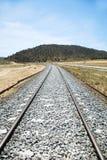 Tren viejo del carril Imagen de archivo libre de regalías