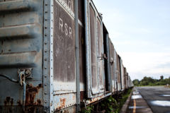 Tren viejo del moho Imagen de archivo libre de regalías