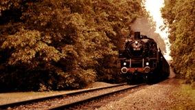 Tren viejo del vapor almacen de metraje de vídeo