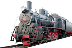 Tren viejo del vapor Imagen de archivo