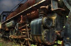 Tren viejo del vapor Imágenes de archivo libres de regalías