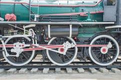 Tren viejo del vapor, ruedas Fotos de archivo