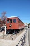 Tren viejo en la estación de Kawaguchiko, Japón foto de archivo libre de regalías