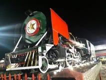 Tren viejo en la exhibición Foto de archivo libre de regalías