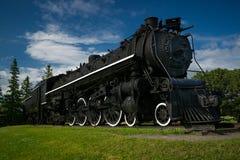 Tren viejo grande, negro del vapor Imágenes de archivo libres de regalías