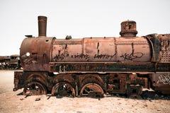 Tren viejo oxidado del vapor Fotografía de archivo