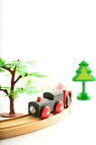 Tren y camión, grúa Juguetes para la ilustración de children Fotos de archivo libres de regalías