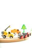 Tren y camión, grúa Juguetes para la ilustración de children Foto de archivo libre de regalías