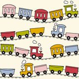 Tren y carriles - modelo inconsútil Fotos de archivo libres de regalías
