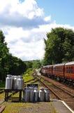 Tren y carros, Hampton Loade del vapor de Great Western Imagenes de archivo