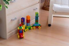Tren y childchair Foto de archivo libre de regalías