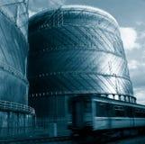 Tren y gas Foto de archivo libre de regalías