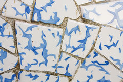 Trencadis. Broken pottery, Gaudi. Stock Image
