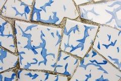 Trencadis. Cerâmica quebrada, Gaudi. Imagem de Stock