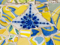 Trencadis by Gaudi. Trenkadis is a technique used in architectural mosaics by architect Antonio Gaudi, which was to collect and assemble broken with artistic Royalty Free Stock Photo