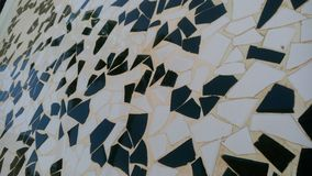 Trencadis modernist mosaic technique. If you like the Gaudi style, this piece of a wall is a very original art and inspired by the Trencadis modernist mosaic Stock Photos
