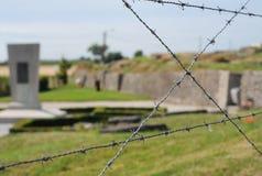 Trench dalla guerra mondiale I, il monumento, reliquia immagine stock