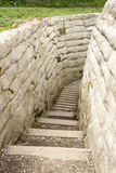 Trench of death world war 1 flanders fields belgium royalty free stock photography