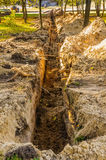Trench in the Ground Royalty Free Stock Images