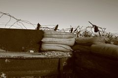Great War Trenches near Verdun, East of France Stock Photos